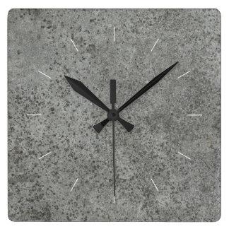HÅRDNA | den industriella dekoren Fyrkantig Klocka
