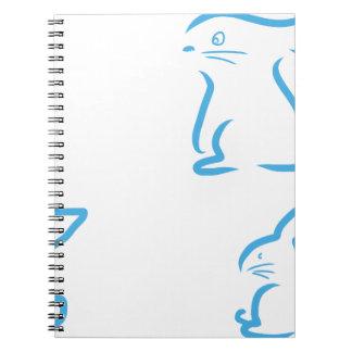 Hare #2 anteckningsbok med spiral