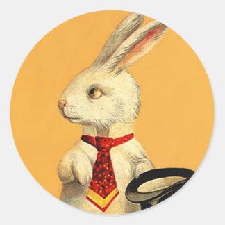 Hare för kanin för trick för runt klistermärke