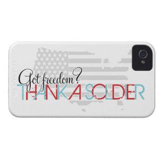 Harfrihet? Tacka en soldat Case-Mate iPhone 4 Skydd