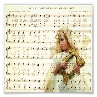 Hark hör änglarsjungan på vintagemusiklakan foton
