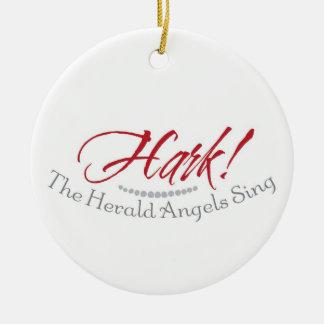 Hark prydnaden för häroldänglarsjungan julgransprydnad keramik