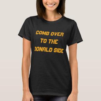 HÅRKAM ÖVER TILL kvinna för DONALD SIDA   svart T Shirts
