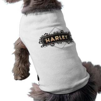 Harley - älsklings- hund tröja - svart tass avtryc