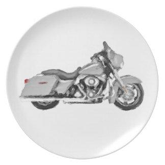Harley FLHX gataglidljud räcker målad konst borsta Tallrik