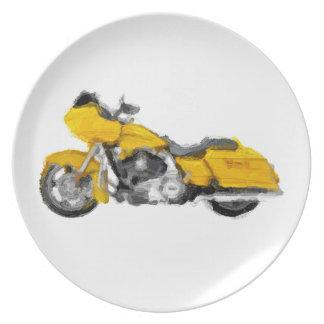 Harley FLTRX räcker målad konst borstar mallen plä Tallrik