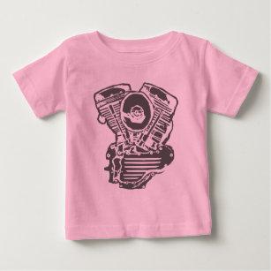 Harley Panhead motorteckning Tee Shirt