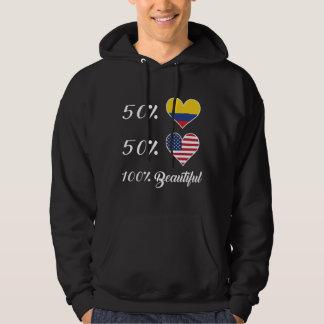 Härlig 50% colombiansk 50% amerikan 100% tröja med luva