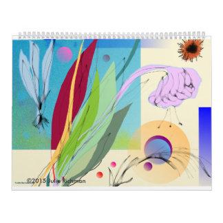 Härlig abstrakt natur kalender