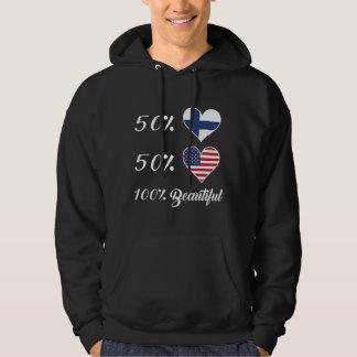 Härlig amerikan 100% för 50% finska 50% hoodie