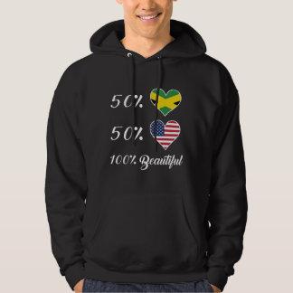 Härlig amerikan 100% för 50% jamaikan 50% sweatshirt med luva
