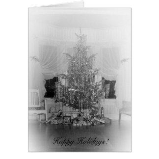 Härlig antik julgran hälsningskort