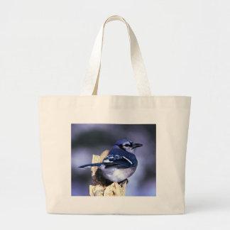 Härlig blåttJay fågel Jumbo Tygkasse