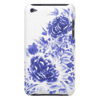 Härlig blåttpionipod touch case iPod touch hud
