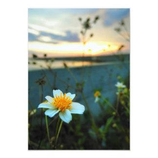 härlig blomma 12,7 x 17,8 cm inbjudningskort