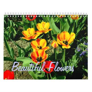 Härlig blommakalender kalender