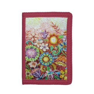 Härlig blommakonstplånbok