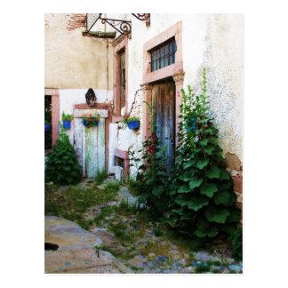 Härlig borggård i Crete, Grekland Vykort