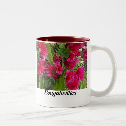 Härlig Bougainvilleablommamugg Kaffe Muggar