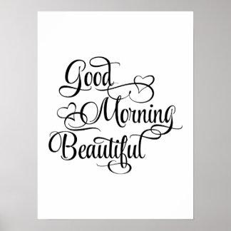 Härlig bra morgon - inspirera affisch