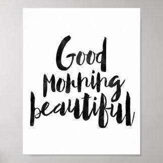 Härlig bra morgon poster