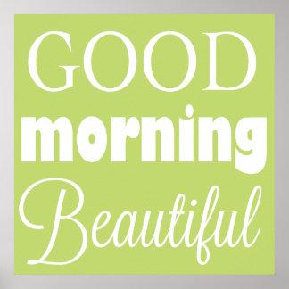 Härlig bra morgon - väggkonst poster