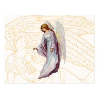 Härlig budbärare för ängel av guden vykort