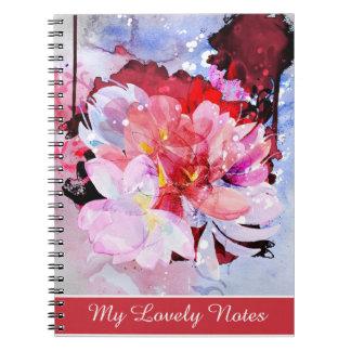 Härlig bukett av blommor anteckningsbok