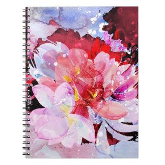 Härlig bukett av blommor anteckningsbok med spiral