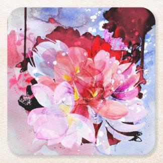 Härlig bukett av blommor underlägg papper kvadrat