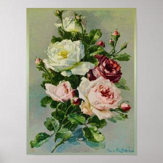 Härlig bukett med rosor av Catherine Klein Poster