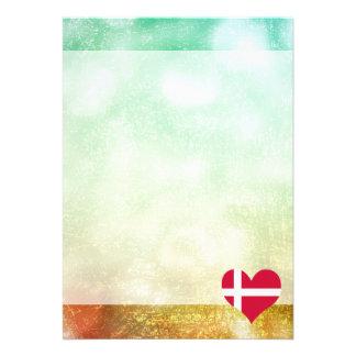 Härlig danska 12,7 x 17,8 cm inbjudningskort