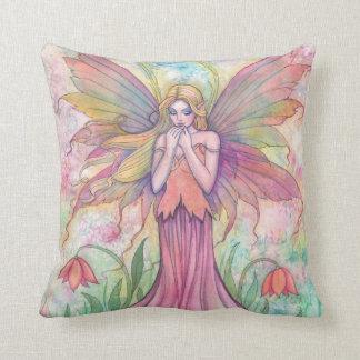 Härlig dekorativ kudde för blommaälvafe