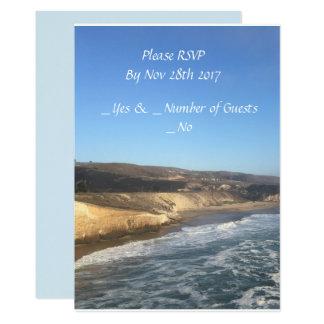 Härlig design för strandbröllopinbjudan 12,7 x 17,8 cm inbjudningskort
