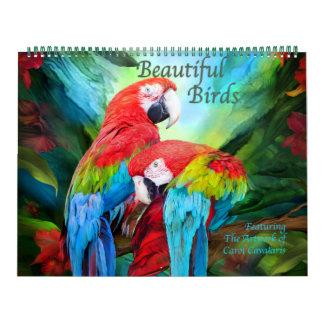 Härlig fågelkonstkalender kalender