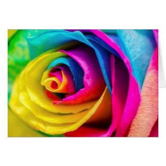 Härlig färgrik dikt för regnbågerokärlek hälsningskort