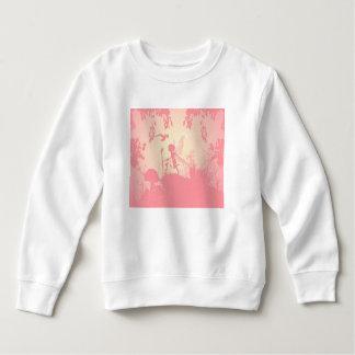 Härlig felik silhouette i rosor med fåglar t shirt