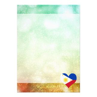 Härlig filippin 12,7 x 17,8 cm inbjudningskort