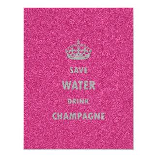 Härlig för coola för sparavatten flickaktigt 10,8 x 14 cm inbjudningskort