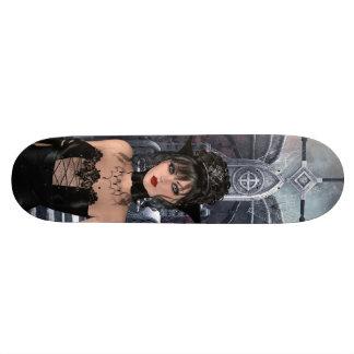 Härlig gotisk drottning & biskopsstol old school skateboard bräda 18 cm