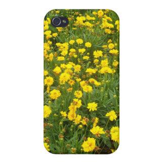 Härlig gul blom- design iPhone 4 hud