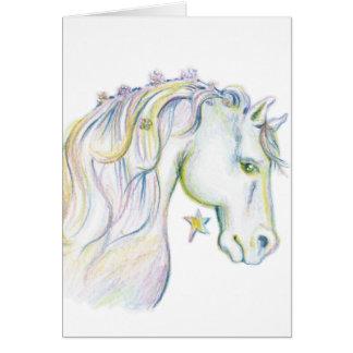 Härlig häst hälsningskort