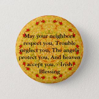 Härlig irländsk välsignelse - IRLAND Standard Knapp Rund 5.7 Cm