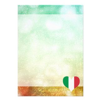 Härlig italienare 12,7 x 17,8 cm inbjudningskort