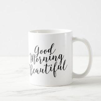 Härlig kaffemugg för bra morgon vit mugg