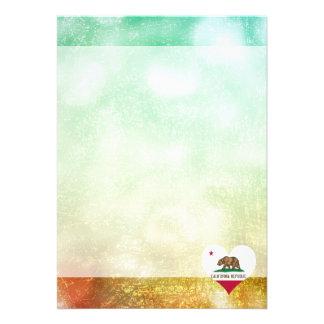 Härlig kalifornier 12,7 x 17,8 cm inbjudningskort