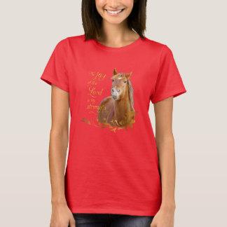 Härlig kastanjebrun T-tröja för hästbibelVerse Tshirts