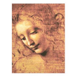 Härlig kvinna av Leonardo Da Vinci Vykort