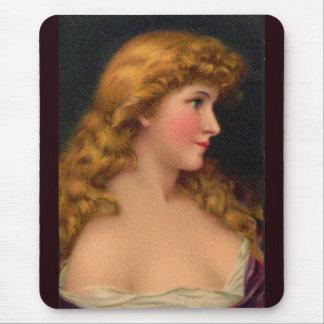 härlig kvinna för 19th århundrade musmatta