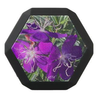 Härlig lila blommor på den Bluetooth högtalaren Svart Bluetooth Högtalare